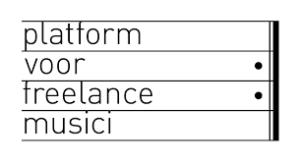 Platform voor freelance musici